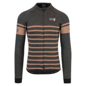 Agu Shirt Lm  Six6 Merino Black/Brown Xxl
