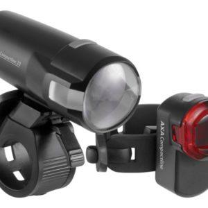 Axa Led Lamp Voor + Achter Compactline 20 Batterij Set