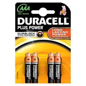Duracell Batterij Plus Power Lr03 Aaa (4)