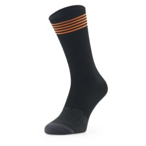 Sockeloen Sok Merino Black-Orange